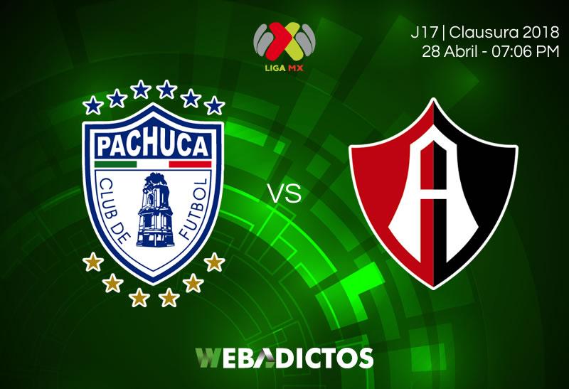 Pachuca vs Atlas, Fecha 17 del Clausura 2018 ¡En vivo por internet! - pachuca-vs-atlas-clausura-2018