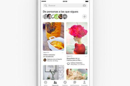 """Pinterest lanza una nueva pestaña """"seguir"""""""