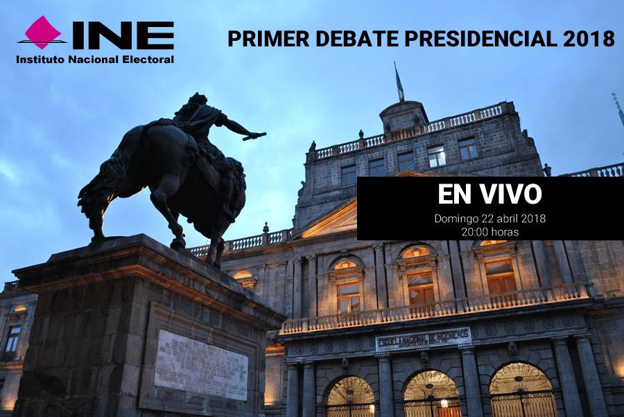 Primer debate presidencial 2018 en vivo por internet este 22 de abril - primer-debate-2018