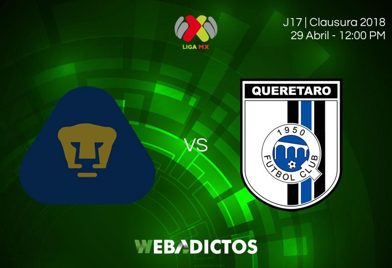 pumas vs queretaro clausura 2018 Pumas vs Querétaro, Jornada 17 del C2018 ¡En vivo por internet!