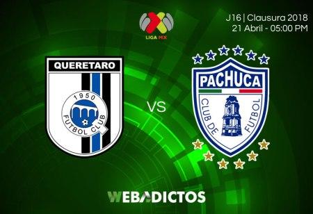 Querétaro vs Pachuca, Fecha 16 Clausura 2018 ¡En vivo por internet!