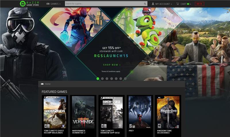 Razer Game Store, la nueva tienda digital de Videojuegos de Razer - razer-game-store-800x476
