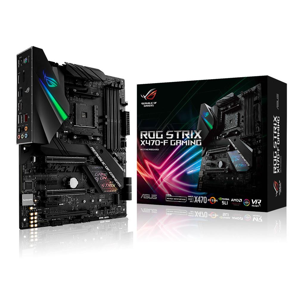rog strix x470 f gaming ASUS lanza sus tarjetas madres para AMD X470
