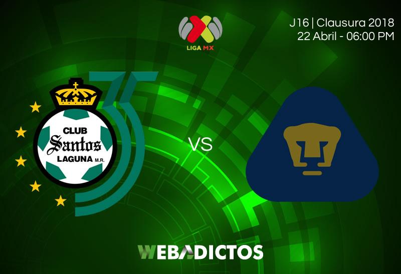 Santos vs Pumas, Jornada 16 del Clausura 2018 ¡En vivo por internet! - santos-vs-pumas-clausura-2018