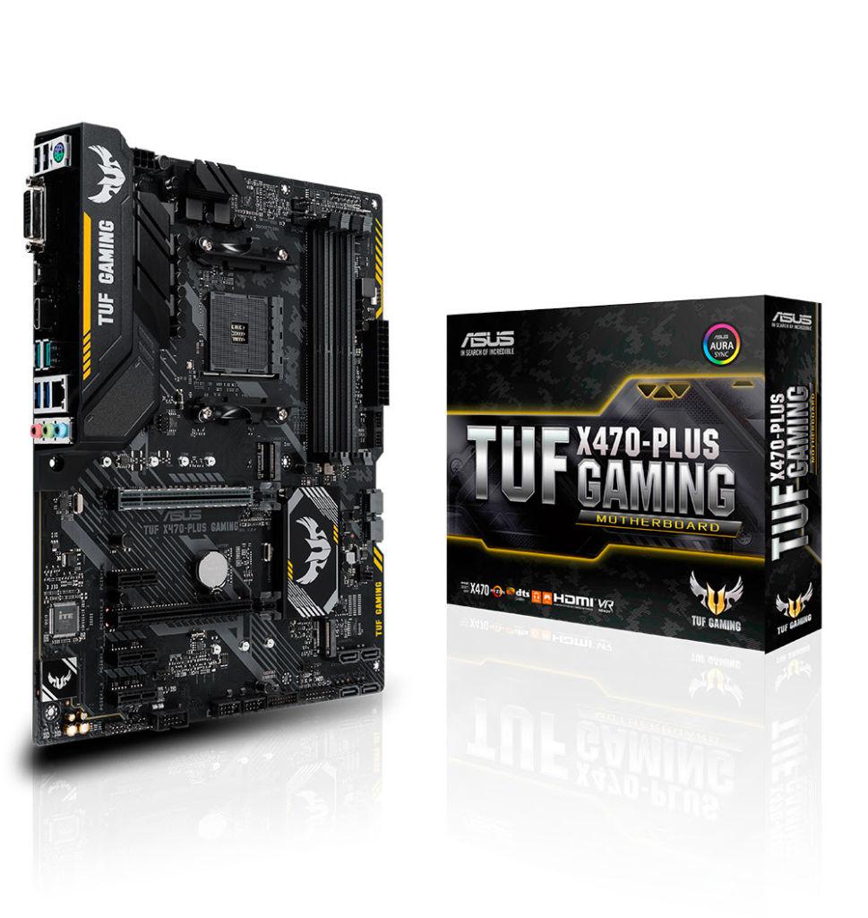 tuf x470 plus gaming ASUS lanza sus tarjetas madres para AMD X470