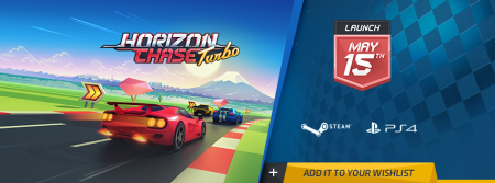 El frenético arcade de carreras Horizon Chase Turbo en PS4 y Steam