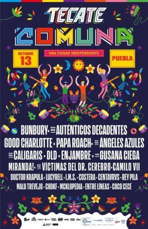 Cartel de la segunda edición del festival Tecate Comuna