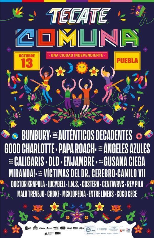 Cartel de la segunda edición del festival Tecate Comuna - cartel_tecate_comuna_2018-517x800