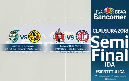 ida 450x283 Definidos horarios y fechas para las Semifinales de la Liga MX