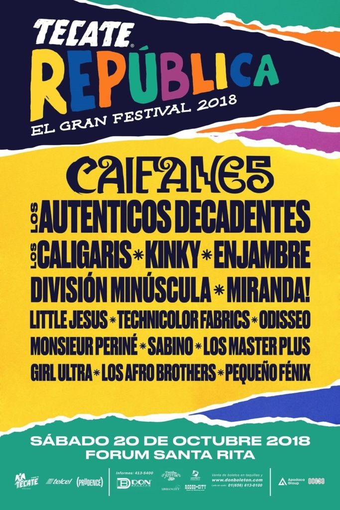 tecate republica el gran festival Anuncian el lineup de la segunda edición del Tecate República El Gran Festival