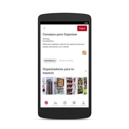 Pincodes, nueva función de Pinterest llega a México - the-home-depot-organizar-board-on-android-pincodes-450x450
