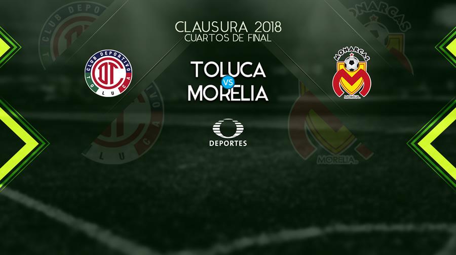 Toluca vs Morelia, Liguilla del Clausura 2018 ¡En vivo por internet! - toluca-vs-morelia-liguilla-clausura-2018