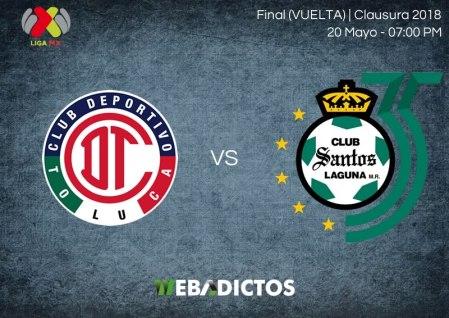 Toluca vs Santos, Final de Liga MX C2018 ¡En vivo por internet!