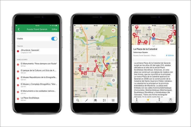 La app de Maps.me añade rutas por las ciudades de Mundial de Rusia 2018 - app-gratuita-de-mapas-maps-me-800x532