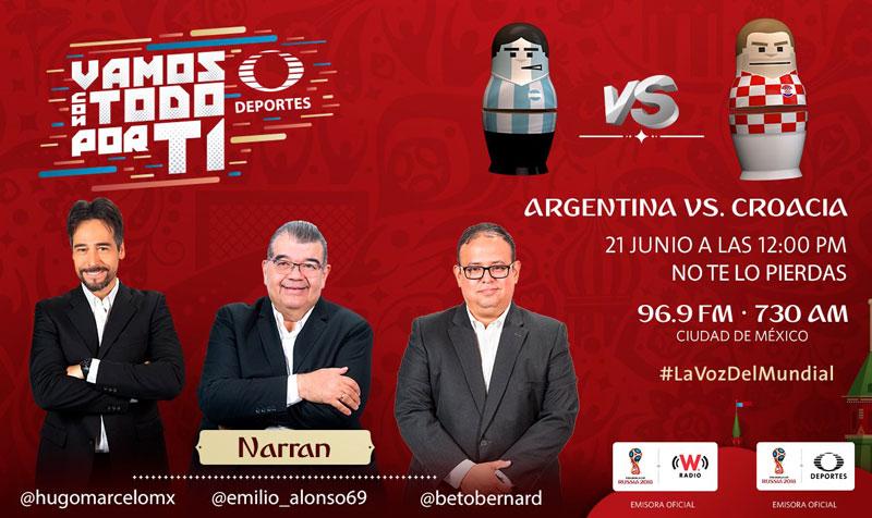 Argentina vs Croacia, Mundial 2018 ¡En vivo por internet! | Grupo D - argentina-vs-croacia-por-radio-mundial-2018