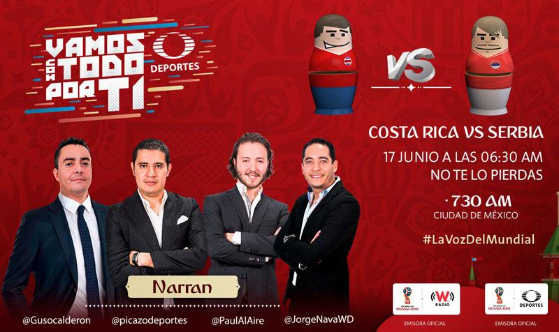 Costa Rica vs Serbia en el mundial Rusia 2018 ¡En vivo por internet! - costa-rica-vs-serbia-por-radio-mundial-2018