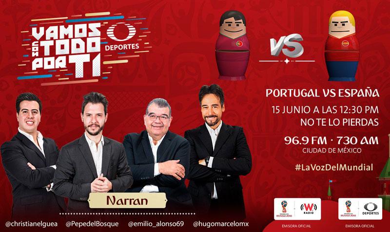 Portugal vs España, Mundial Rusia 2018 ¡En vivo por internet! | Grupo B - espana-vs-portugal-rusia-2018-radio