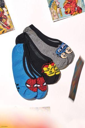 Colección Vans x Marvel: calzado, ropa y accesorios de los personajes icónicos del Universo Marvel - fa18_classics_marvel_elevated_vn0a3qxn448_avengerscanoodles3pk_multi2