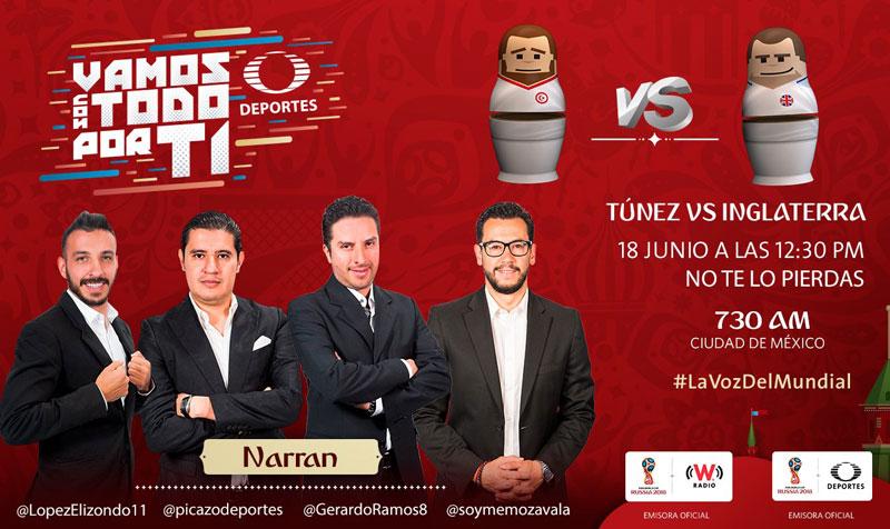 Túnez vs Inglaterra en el Mundial 2018 ¡En vivo por internet! - inglaterra-vs-tunez-por-radio-mundial-2018