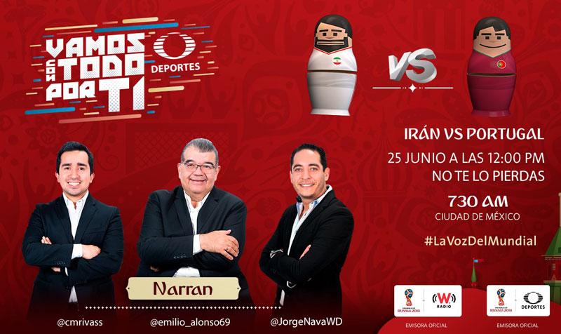 Irán vs Portugal, Mundial Rusia 2018 ¡En vivo por internet! - iran-vs-portugal-por-radio