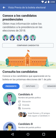 1,300 millones de interacciones registradas en Facebook sobre elecciones durante los 90 días previos