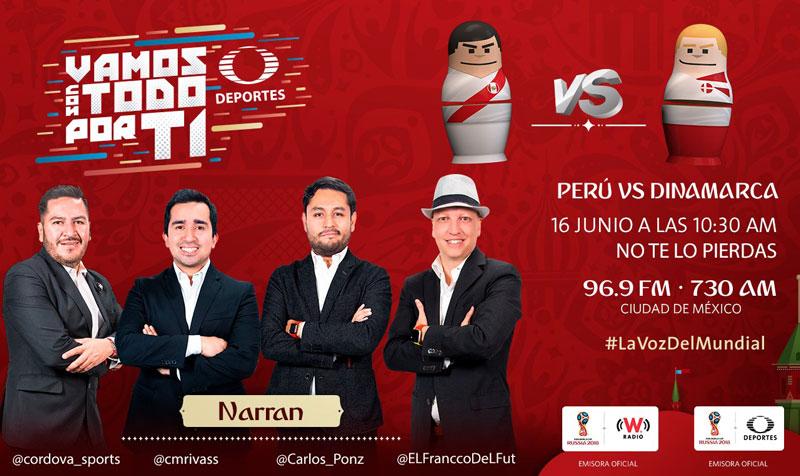 Perú vs Dinamarca, Mundial Rusia 2018 ¡En vivo por internet! | Grupo C - peru-vs-dinamarca-por-radio-mundial-2018