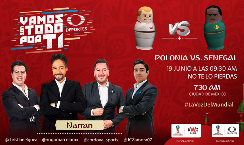 Polonia vs Senegal, Mundial Rusia 2018 ¡En vivo por internet! | Grupo H - polonia-vs-senegal-mundial-2018-por-radio