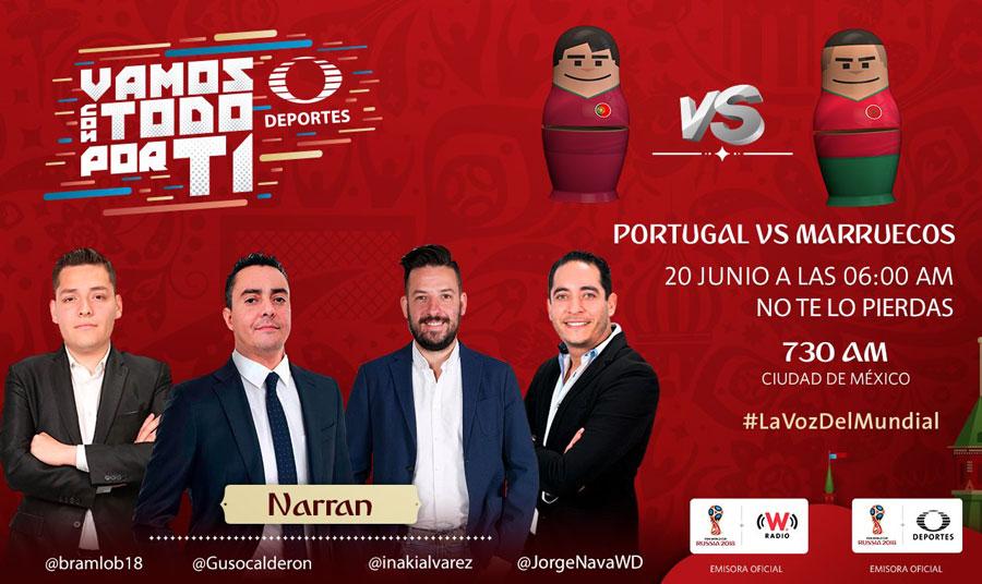 Portugal vs Marruecos, Mundial Rusia 2018 ¡En vivo por internet! - portugal-vs-marruecos-por-radio-mundial-2018