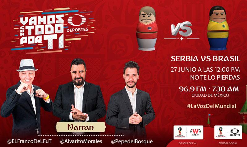 Serbia vs Brasil en el Mundial Rusia 2018 ¡En vivo por internet! - serbia-vs-brasil-por-radio-mundial-2018