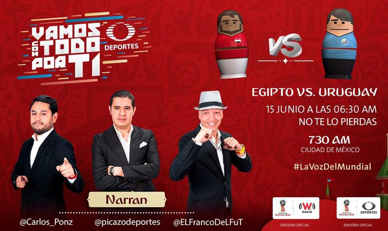 Egipto vs Uruguay, Mundial Rusia 2018 ¡En vivo por internet! - uruguay-vs-egipto-por-radio-online-rusia-2018
