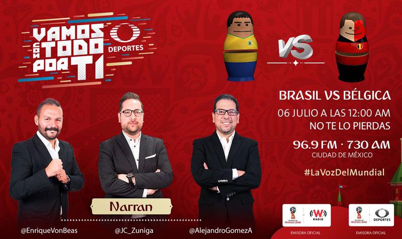 Brasil vs Bélgica, Cuartos de Final Rusia 2018 ¡En vivo por internet! - brasil-vs-belgica-por-radio-mundial-2018