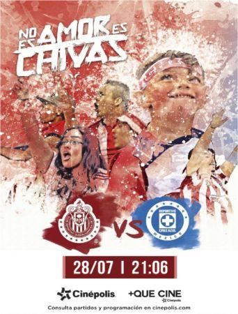 Cinépolis transmitirá los partidos del Club Chivas