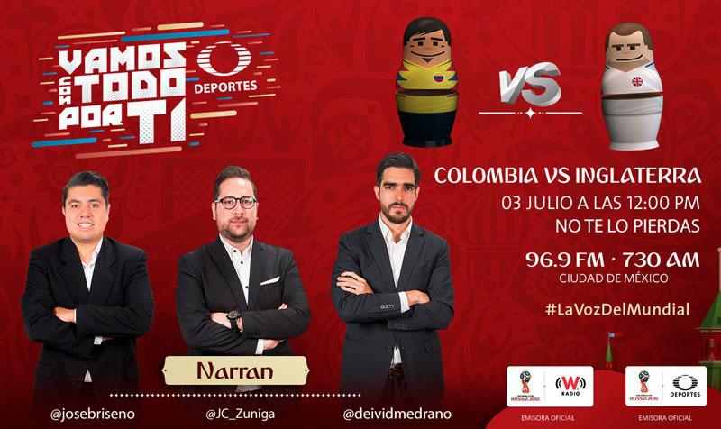 Colombia vs Inglaterra, octavos del Mundial 2018 ¡En vivo por internet! - colombia-vs-inglaterrapor-radio-mundial-2018