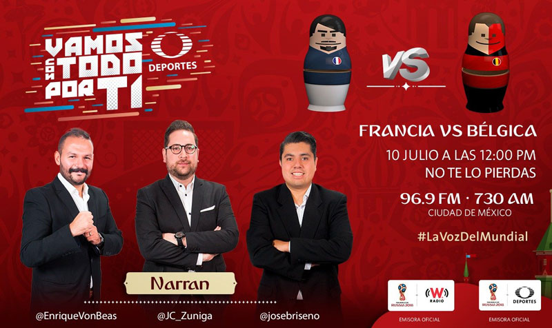 Francia vs Bélgica, Semifinal del Mundial 2018 ¡En vivo por internet! - francia-vs-belgica-por-radio-mundial-2018