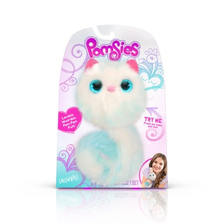 Pomsies, adorables gatitos de peluche interactivos llegan a México - pomsies_snowball-450x450