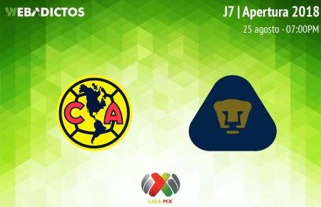 América vs Pumas, J7 de Liga MX A2018 ¡En vivo por internet!
