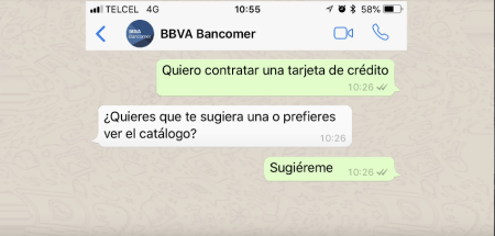 BBVA Bancomer integra el asistente virtual BBVA a través de Whatsapp e inteligencia Artificial