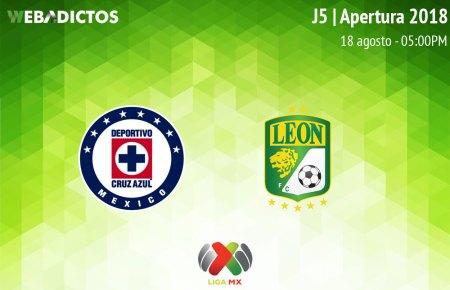 Cruz Azul vs León, Jornada 5 del Apertura 2018 ¡En vivo por internet!