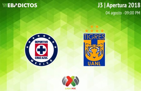 Cruz Azul vs Tigres en la Jornada 3 Apertura 2018 ¡En vivo por internet!