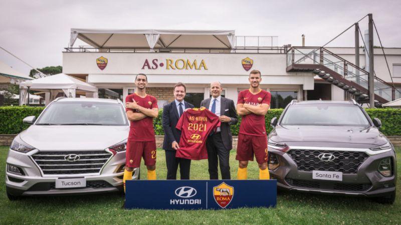 Hyundai Motor se convierte en patrocinador del club de futbol AS Roma - hyundaixroma_1-800x450