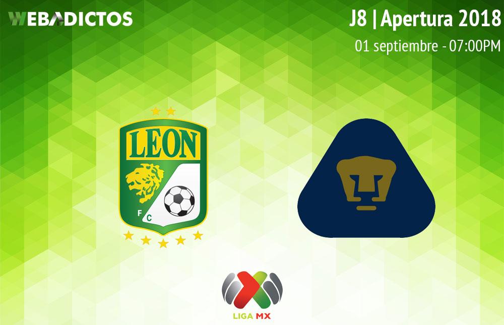 León vs Pumas, Jornada 8 del Apertura 2018 ¡En vivo por internet! - leon-vs-pumas-apertura-2018