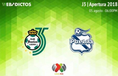 Santos vs Puebla, J3 de la Liga MX Apertura 2018 ¡En vivo por internet!