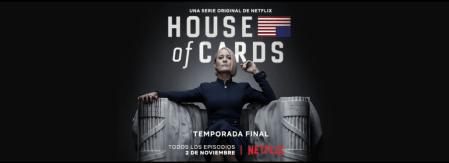 Estreno de la Sexta y última temporada de House of Cards el 2 de Noviembre