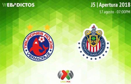 Veracruz vs Chivas, Jornada 5 del Apertura 2018 ¡En vivo por internet!