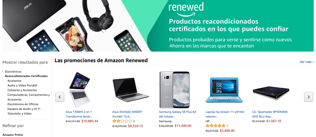 Amazon Renewed ¡ya disponible en México! - amazon-renewed