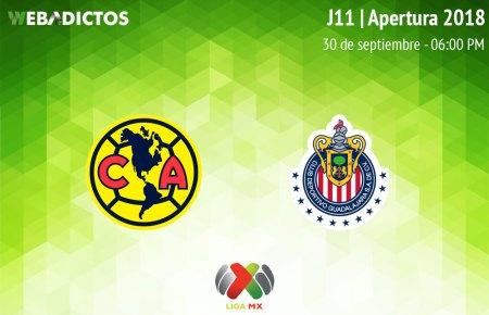 América vs Chivas, Clásico en el Apertura 2018 ¡En vivo por internet!