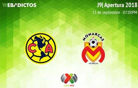 América vs Morelia, J9 del Apertura 2018 ¡En vivo por internet!