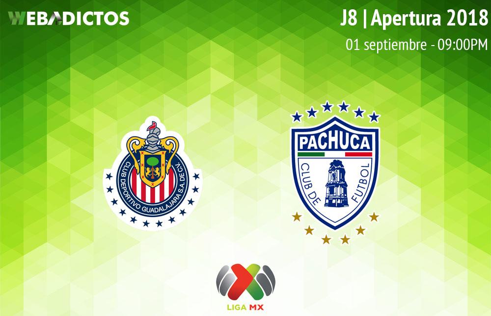 Chivas vs Pachuca, Jornada 8 de Liga MX A2018 ¡En vivo por internet! - chivas-vs-pachuca-apertura-2018