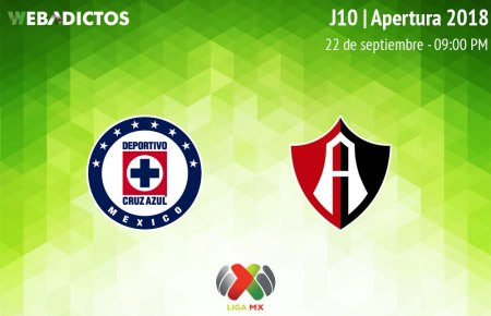 Cruz Azul vs Atlas, Jornada 10 de Liga MX A2018 ¡En vivo por internet!