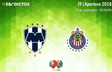 Monterrey vs Chivas, Jornada 9 del A2018 ¡En vivo por internet!